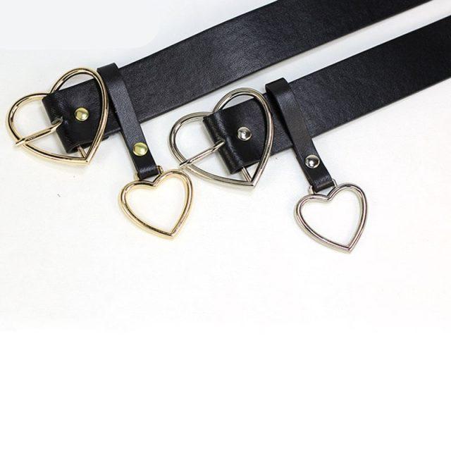 Cinturón con Hebilla en Forma de Corazón