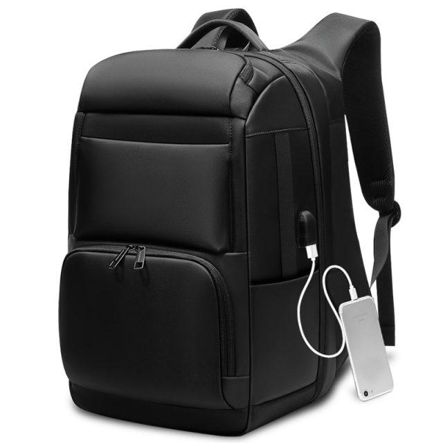Hombres Mochila de viaje de gran capacidad adolescente hombre Mochila atrás Anti ladrón bolsa de carga USB 17,3